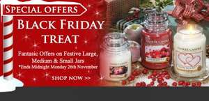 Yankee black Friday 3 large jars for £42.50 plus 2 free samplers