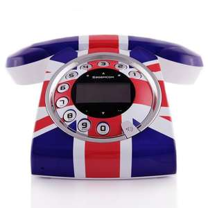 Sagemcom Sixty Retro Digital Cordless Union Jack - With Free Shipping