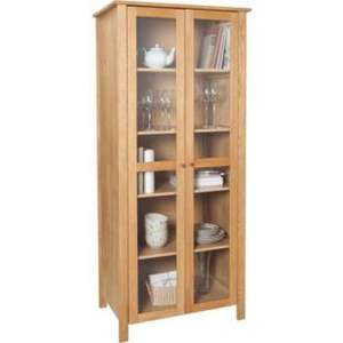 Lyndhurst 2 Door Display Cabinet - Solid Oak and Oak Veneer @ ARGOS £124.99 LESS THAN HALF PRICE