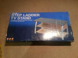 Step ladder TV stand 3 tier from Tesco Instore, 11.47
