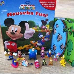 Disney Mickey Mouse Clubhouse Mouseka Fun My Busy Book Play Mat & Figures ASDA £5