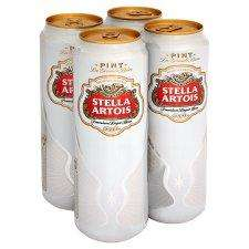 4 x Stella Cans (568ml) - £5 + a free Stella glass @ Tesco instore