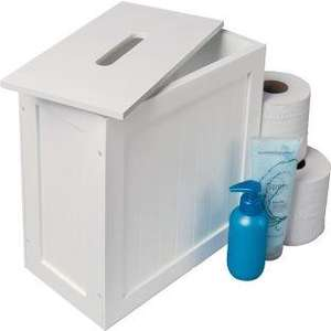 Slimline Shaker Storage Unit with Lid - White £11.24 Argos.
