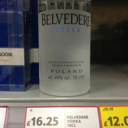 Belvedere vodka £16.25 @ Tesco instore