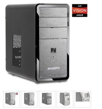 Zoostorm Desktop PC AMD A4 3300 2.5GHz 4GB RAM + 320GB HDD £149 @ Ebuyer