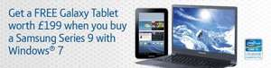 Free Galaxy Tab 2 worth £199 when you buy a Samsung Series 9 laptop @ BT Business