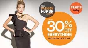 Dorothy perkins pop up sale up to 30% off everything sale and a code stack