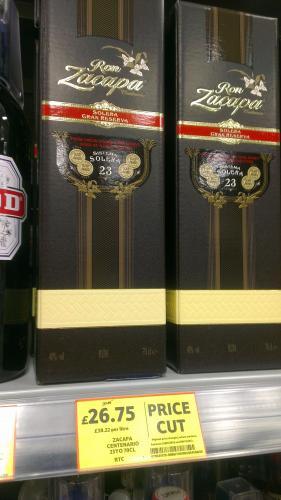 Ron Zacapa centenario 23 Year old rum £54 now £26.50 Tesco in-store