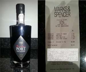 * Instore* Marks and Spencer Special Reserve Port Decanter 50cl £7.99
