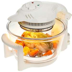 Cookshop 11 Litre Halogen Oven in White with 8 Accessories  WAS  £89.99  NOW  £44.99 - idealworld.tv