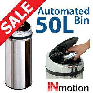 Tapsuk 50L Stainless bin with a lid that opens automatically. £37.99 inc postage.