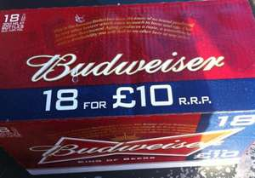 18 Budweiser £10 @ Morrisons