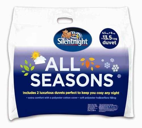 Silentnight 2 in 1 4.5/9.0 Tog All Season King size Duvet £9.99 @ uk-bedding (eBay)