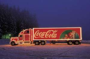 Free Photo with Coca Cola Xmas Truck and Mini Cans of Coke - 64 Locations
