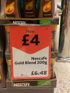 Nescafe Gold Blend Coffee 200g for £4 at Morrisons Reduced from £6.48