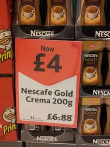 Nescafe Gold Crema 200g for £4.00 at Morrisons Reduced from £6.88. Not Expired This Time!!