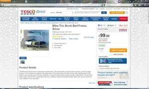 Trio Bunk Bed at Tesco Direct Half Price at £99 and can use Exchange Vouchers!
