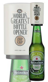 Zap Cap Bottle Opener by Cellardine - £4.90 Delivered (using voucher) @ PrezzyBox.com (10% TCB)