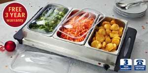Stainless Steel Buffet Server £24.99 @ Aldi from 6th December