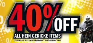 Hein Gericke (Motorcycling) 40% Off & Free Delivery (This weekend) On HG Branded Products