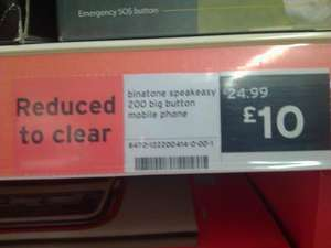 Binatone speak easy big button mobile phone at Sainsburys - £10