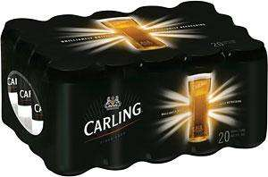 Carling Lager 20 x 440 ml cans Only £9.19 Instore @ Tesco
