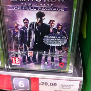 Saint Row the 3rd : The Full package @ Tesco in store - £20