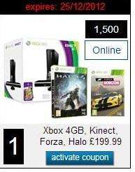 Xbox 360 4gb Slim Console + Kinect sensor + Halo 4 + Forza Horizon + 1 month Xbox live gold - Blockbuster VIP (1500 points) @ Blockbuster