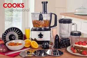 Groupon (James Russell) - Cooks Professional 800W Food Processor for £59.99 (70% Off)