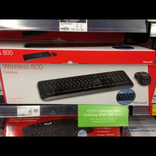 Microsoft wireless 800 desktop,keyboard and mouse £5 @ ASDA