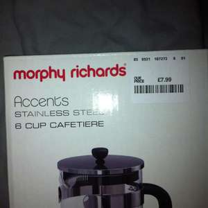 6 cup Morphy Richards coffee press / cafetiere £7.99 @ Home Sense instore