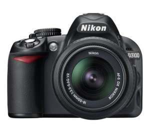 Nikon D3100 £299.99 + £5 off using code CE100 + 10% Topcashback + £35 cashback (Possible £230.49) @ Currys