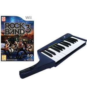 Rock Band 3 with Wireless Keyboard Nintendo Wii £19.99 Was £99.99 Zavvi