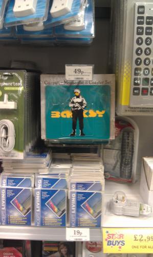 Banksy mouse mat and mug placemat 49p @ homebargains