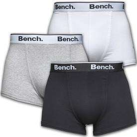 Bench Mens Three Pack Trunks (black/grey/white) - £10.08 (Delivered) @ M&M Direct