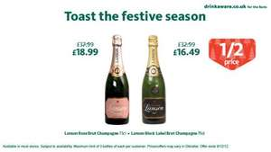 Lanson Black Label Brut Champagne - £16.49 ... Morrisons