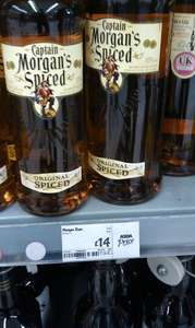 Captain Morgan's Spiced Rum at Asda 1 litre is £13.50.