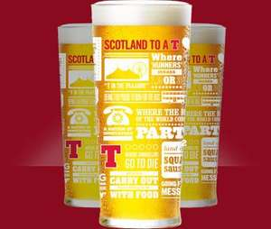 Tennents Lager - Limited Edition Glass