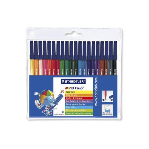 Staedtler Noris Club 326 WP20 Fibre Tip Pen In Wallet - 20 Assorted Colours £6.30 @ Amazon