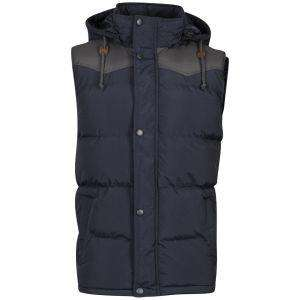 Bravesoul Men's Cyber Gilet - Navy/Charcoal Was £45.00 Now £11.99 Delivered Using Code OUT20 + Quidco @ THE HUT