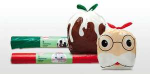 Santa & Christmas Pudding bin bags @ Aldi  - 99p for 8 from Sunday 9th