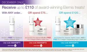 Free Elmis gift with ANY order at timetospa.co.uk