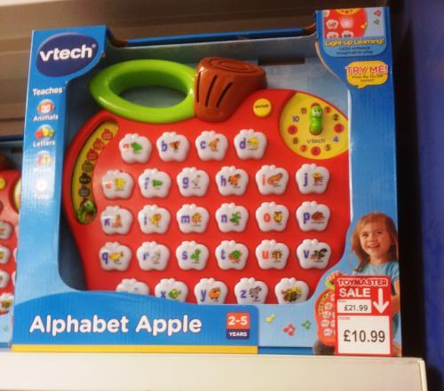 Vtech - Pre-School - Alphabet Apple £10.99  was £19.99 Instore @ Toymaster