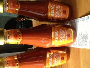 39p each or 3 for £1! Heinz limited edition ketchup with Indian spices. B&M