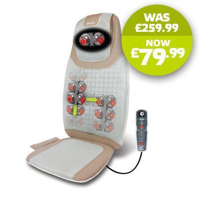 New Homedics SBM-700H 2 in 1 Shiatsu Massage Cushion with Heat - £79.99 Free Dely - Homedics Ebay