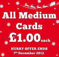 Tesco cards doing all medium personalised cards £1.00 should be £1.79