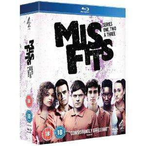 Misfits Series 1-3 Blu-Ray, £20.00 delivered from Amazon
