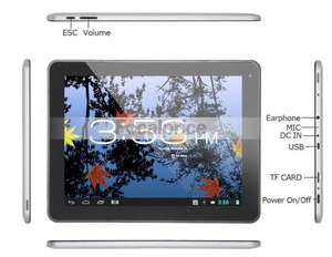 "Hyundai PLAY X900 9.7"" Android 4.1.1 Dual Core RK3066 1.6GHz 16GB Tablet PC with Bluetooth, Auto Screenshot, Picture-in-Picture, Capacitive IPS Touch 2048x1536 (Silver & Black) focalprice"