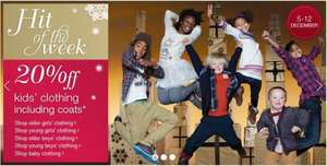20% off - Kids Clothing including coats @ Marks & Spencer