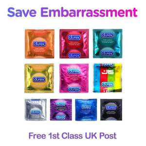 50 Durex Condoms (mix and match) @ ebay/save_embarassment